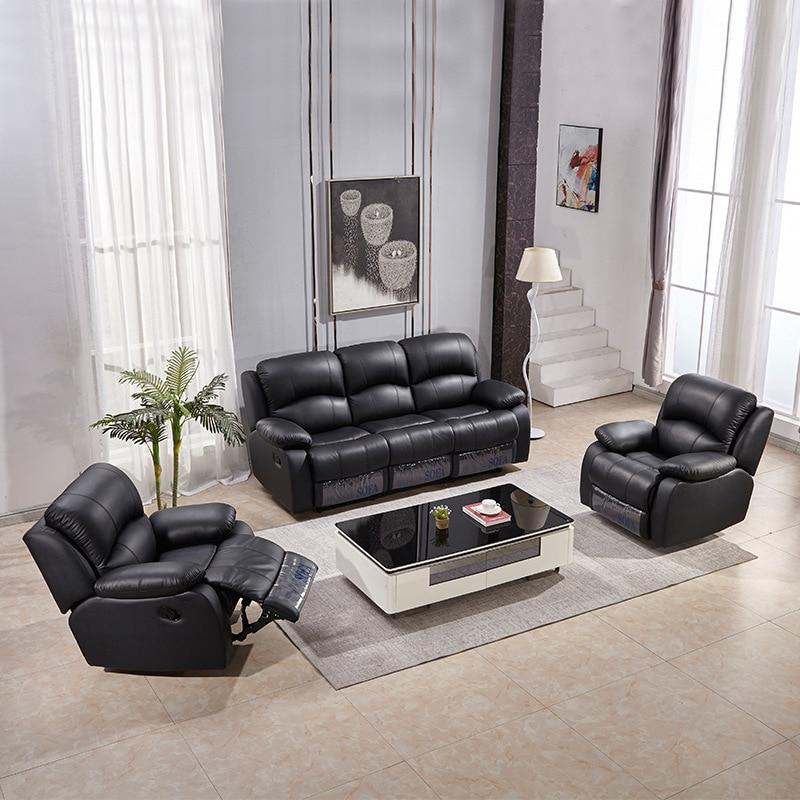 Canapé en cuir multifonctionnel petit salon moderne simple canapé intelligent combinaison canapés pour salon