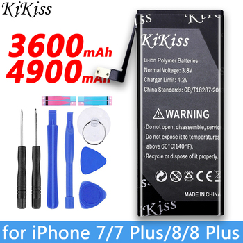 Free Gift KiKiss Battery For iPhone 7/ 7 Plus/ 8/8 Plus/ 6/6 Plus/6S /6S Plus MobileBattery For Apple iPhone 7 7plus 8 8plus uag plasma чехол для apple iphone 8 7 6s gray