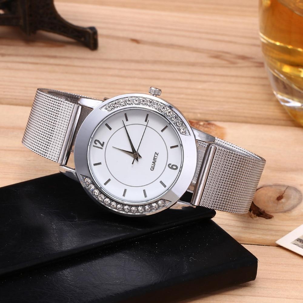 Luxury Brand Fashion Women Watches Fashion Women Crystal Golden Stainless Steel Analog Quartz Wrist Watch Bracelet Dropshipping