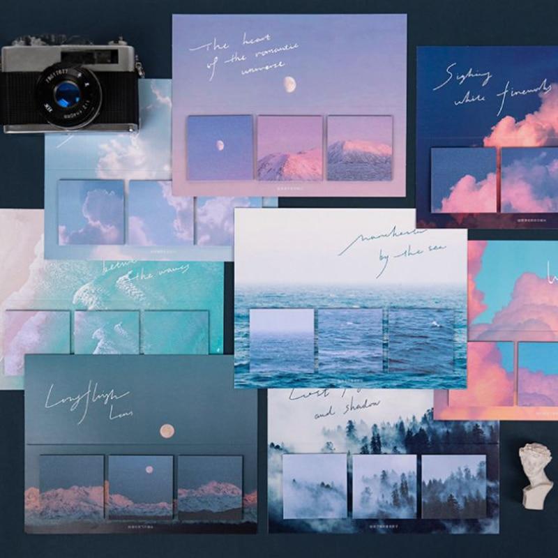 60 листов/уп креативный блокнот для заметок на клейкой основе шить стикеры заметки милые Блокнот DIY милые канцелярские принадлежности дневн...