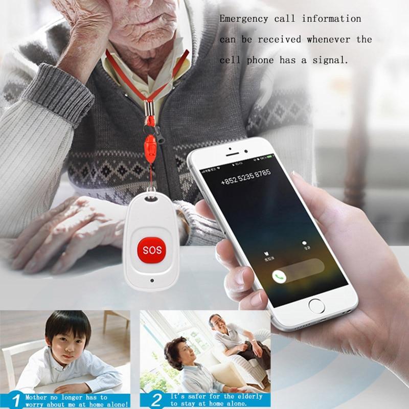 SOS Button Wireless Waterproof Emergency Help Alarm Switch For Kids Old PR Sale
