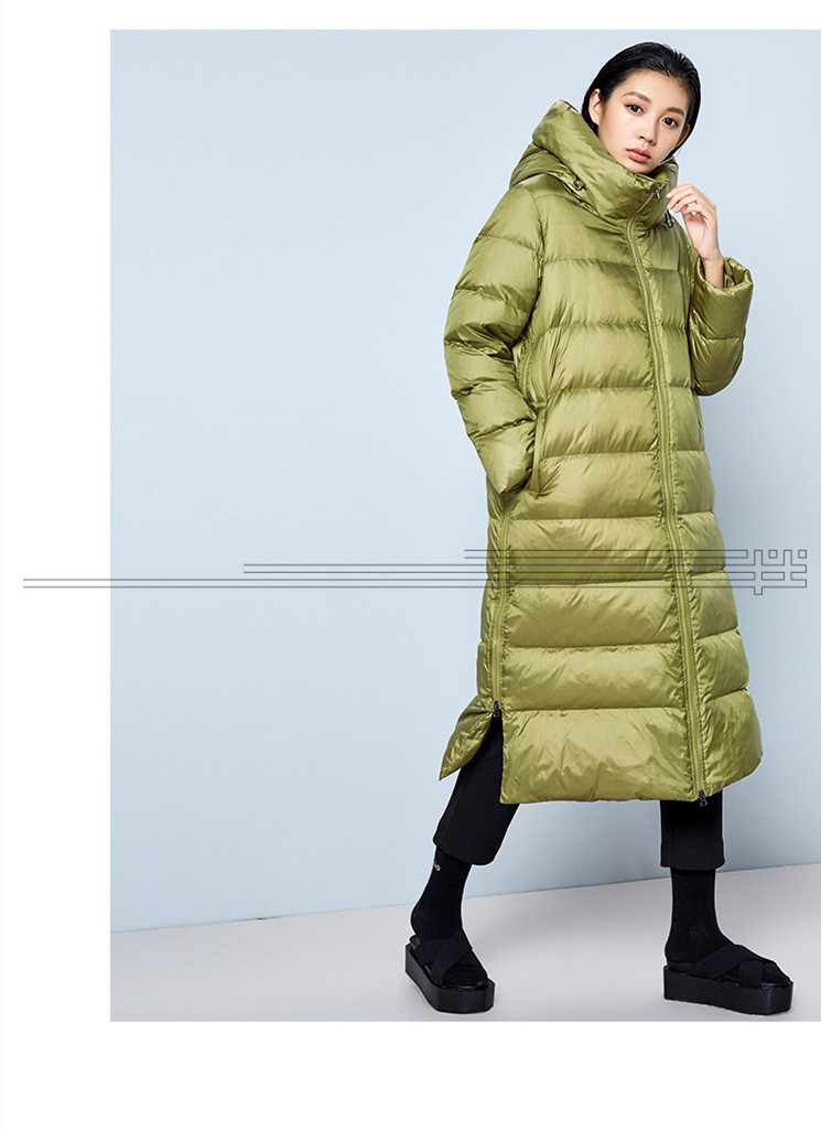 casual solto com capuz puffer jaqueta senhora