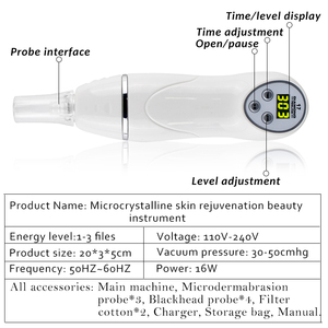 Image 5 - Portable 7 pointe peau diamant Peeling beauté Machine masseur Anti âge Microdermabrasion enlèvement cicatrice acné pores dispositif soins du visage