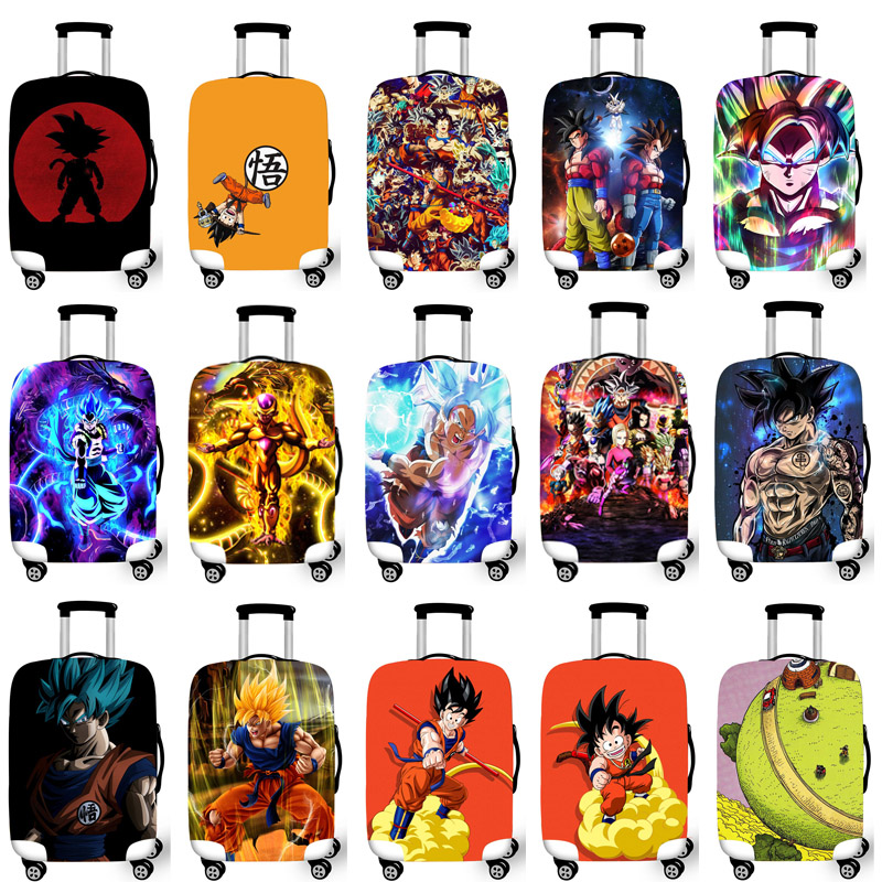 Luggage Protective Cover Case For Elastic 18-32 Inch Suitcase Protective Cover Cases Covers Travel Accessories DRAGON BALL T1221