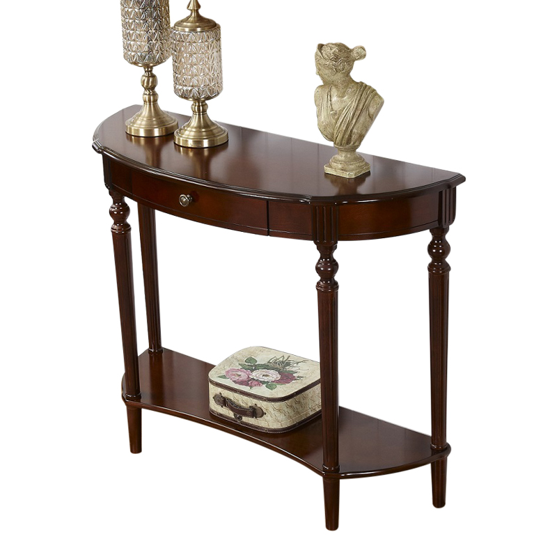European-style Porch Table Porch Cabinet Foyer Porch Corridor Wall Decoration Cabinet With Drawer Corridor Porch