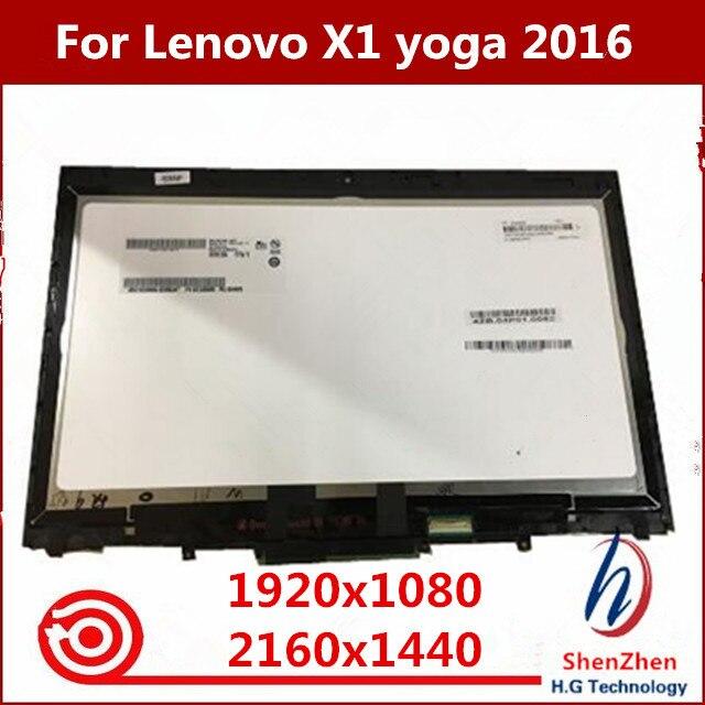 """Pantalla LED LCD Original de 14 """"20FQ WQHD MONTAJE DE digitalizador con pantalla táctil para Lenovo X1 Yoga 1ª generación 2560*1440 2016"""