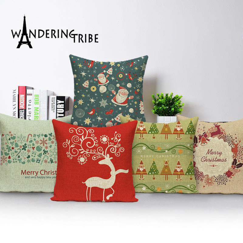 Merry Christmas Throw Pillow Case Christmas Glove