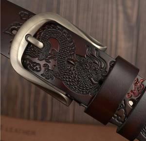 Image 4 - Cinturones de cuero para hombre, ¡oferta! Cinturón de cuero genuino para hombre, Cinturón de piel de vaca de marca, ancho: 3,8 cm, negro, café, naranja