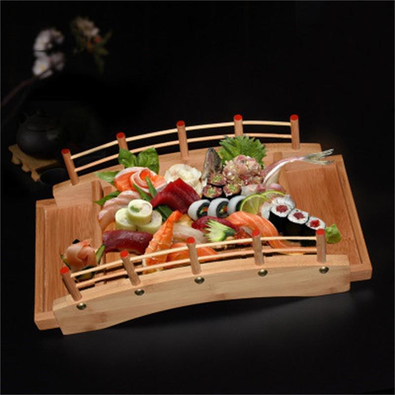 Japanese Wood, Wood, Kitchen, Sushi Bridge, Boats, Pine, Sushi, Creative Sashimi Plate, Decoration, Sushi Plate