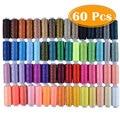 60 farben 250 Hof Nähen Themen Solide Praktische Stickerei DIY Handwerk Polyester Mehrzweck Handgemachte Hause Nähte