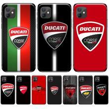цена Ducati Corse Logo Customer High Quality Phone Case For iphone 4 4s 5 5s 5c se 6 6s 7 8 plus x xs xr 11 pro max онлайн в 2017 году