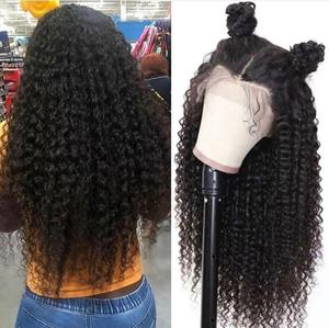 Image 4 - Curly HairวิกผมPre Plucked Baby Hair 13X4 ลูกไม้ด้านหน้าด้านหน้ามนุษย์Wigsสำหรับผู้หญิงสีดำpre Pluckedลูกไม้โปร่งใส