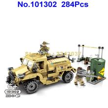 101302 284 шт. ww2 Империя Канада c15a Военный танк грузовик Вторая мировая война армейский строительный блок 3 Фигурки Игрушка