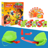 Frog Mouth Take Card Tongue Tic-Tac Chameleon Funny Board Game for Parent-child Interactive Battle and Family Party Toy