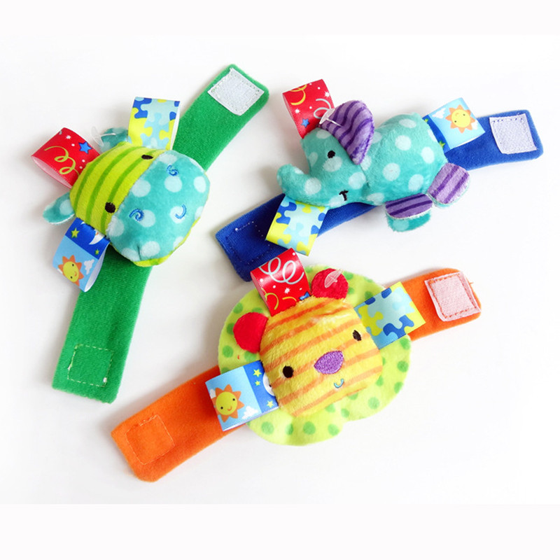 Infant Baby Toys Baby Lovely Wrist Rattles Elephant Hippo Baby Bed Plush Mobile Educational Toys Newborn Baby Toys 0-12 Months