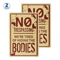 2 пакета Ретро Мода шикарный Забавный металлический оловянный знак не проникать Мы устали скрывать тела