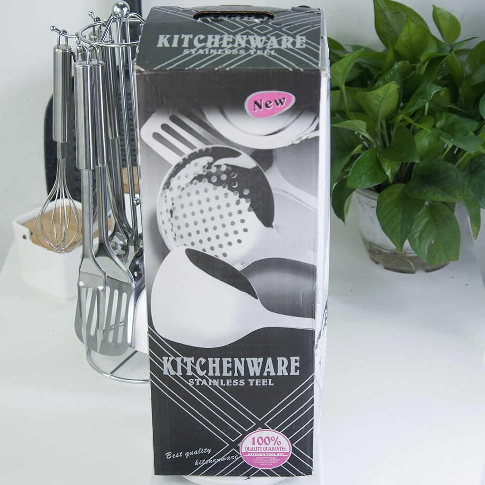 Damasco 13 pçs de aço inoxidável utensílios de cozinha colher skimmer pá espátula carne garfo batedor ovo utensílios de cozinha
