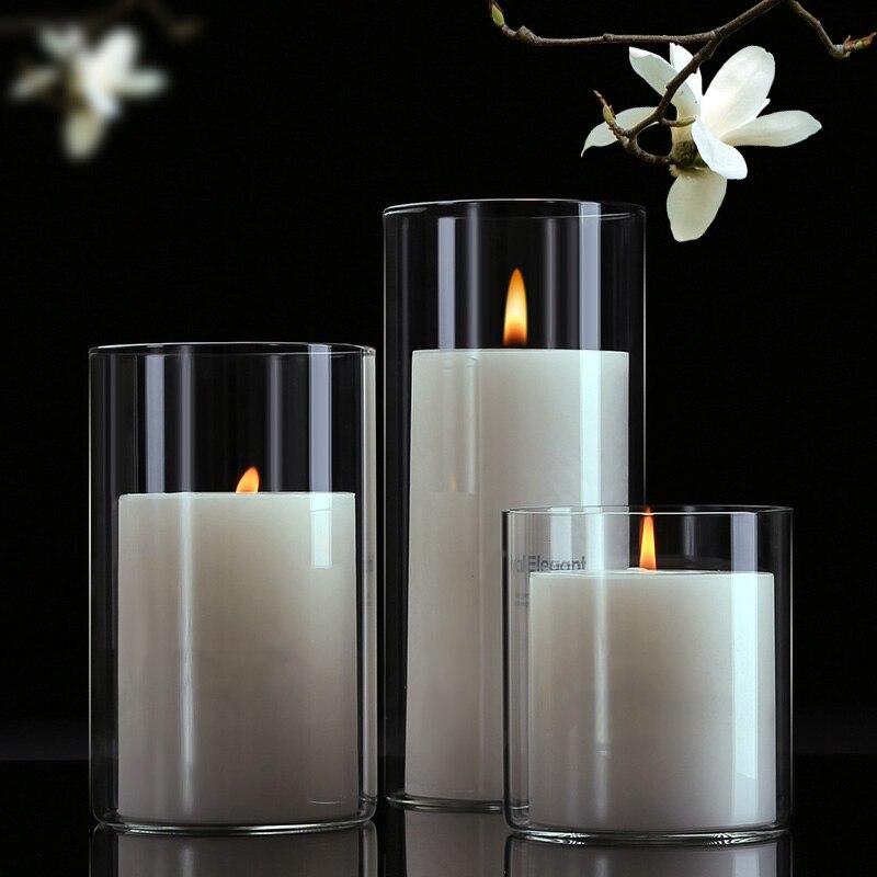 Castiçais de vidro candelabros casamento castiçal nórdico decoração para casa candelabros de vidro do casamento peças centrais suporte de vela