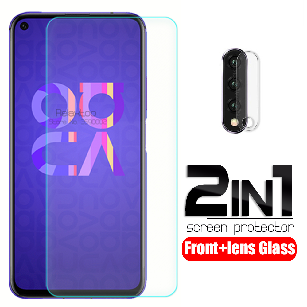 2-in-1 Camera Tempered Glass For Huawei Nova 5t YAL-L21 6.26'' Screen Protector On Nova5t Nova 5 T T5 Phone Lens Protective Film