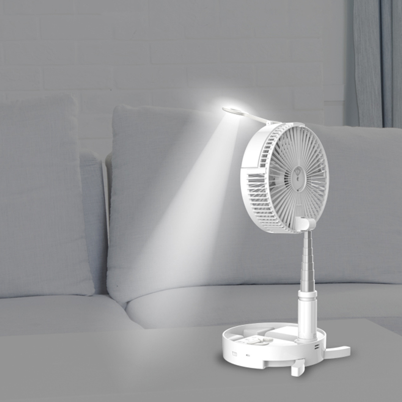 Home Appliances Retractable Fan Air Cooler Fan Desktop Space Cooler Personal Air Cooling Fan For Room Home With Night Light
