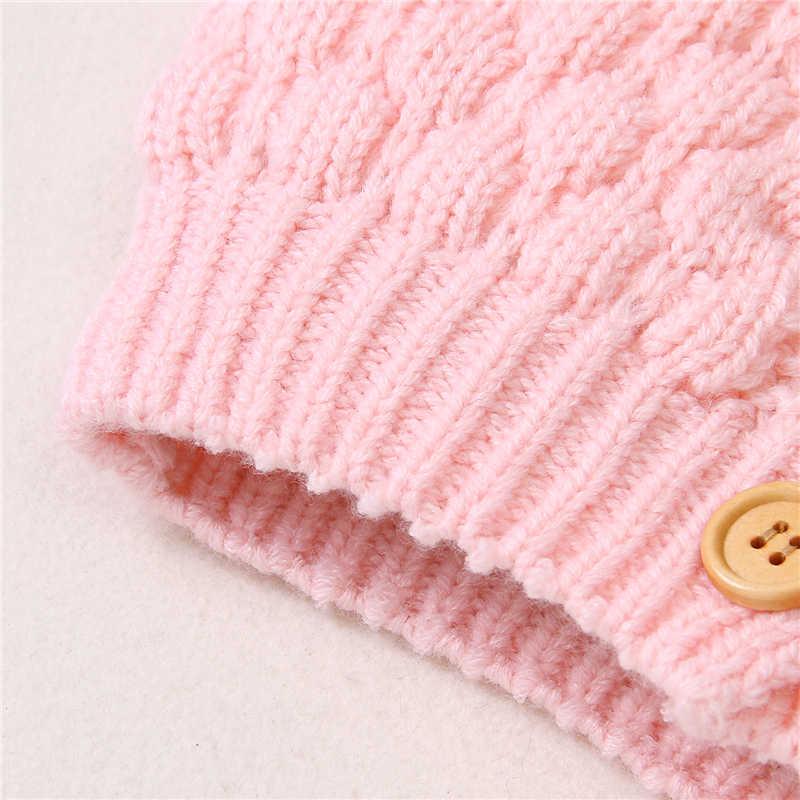 3-24 أشهر طفل رضيع الاطفال الصبي الفتيات محبوك معطف سترة الأذن مقنعين أبلى الشتاء سترة معاطف