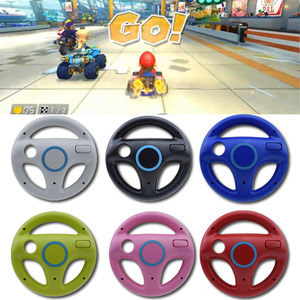 1pcs Mulit-colors Mario Kart Racing Wheel Games Steering Wheel for Wii Remote Game Controller(China)