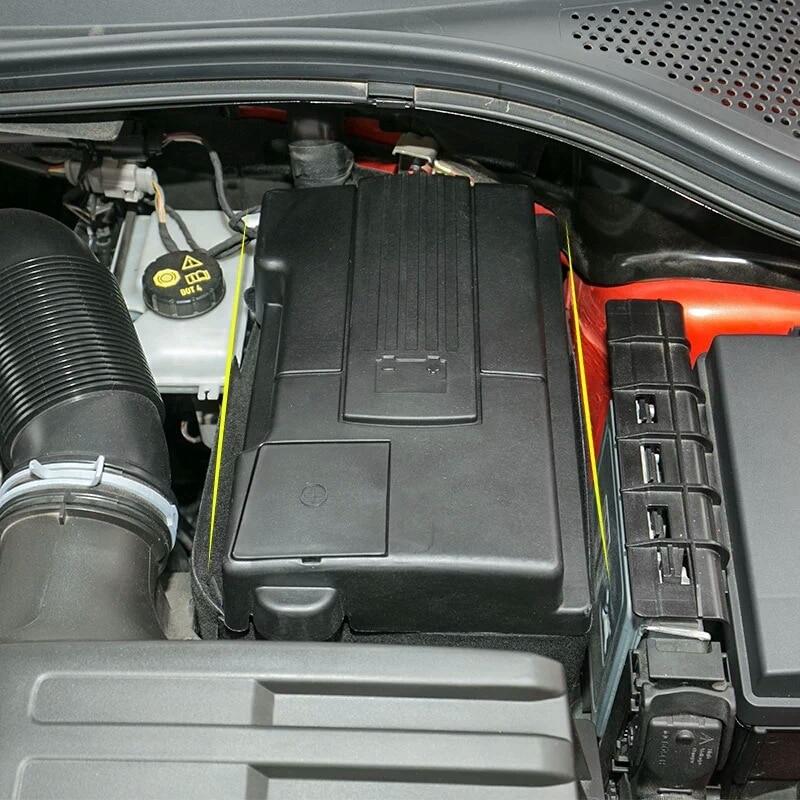 Для Volkswagen VW Golf Sportsvan 2013-2018 Golf MK7 2015, Защита аккумулятора двигателя автомобиля, пылезащитный чехол, положительный и отрицательный