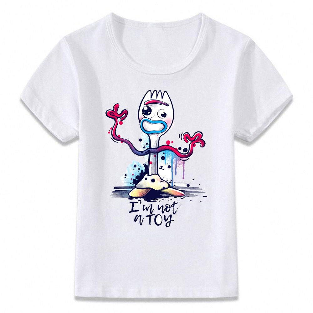 Kids Clothes T Shirt Forky You're Trash T-shirt For Boys And Girls Toddler Shirts Tee BAL137