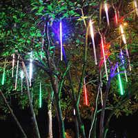20 cm, 30 cm, 50 cm, tubos de lluvia de meteoritos, luces LED impermeables, árbol de Navidad, boda, jardín al aire libre patio Decoración