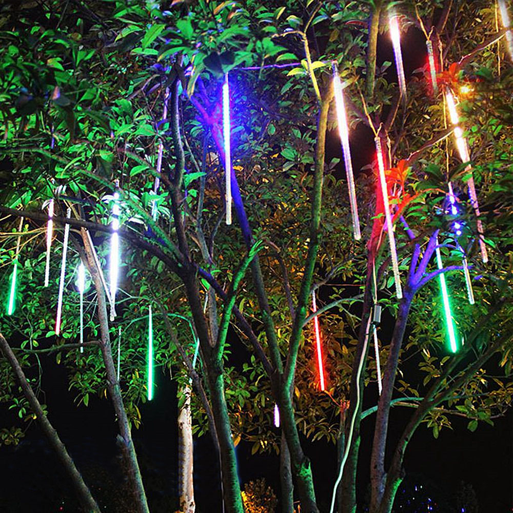 20cm 30cm 50cm Meteor Shower Rain Tubes LED Lights Waterproof New Year Christmas Tree Wedding Outdoor Garden Patio Decoration