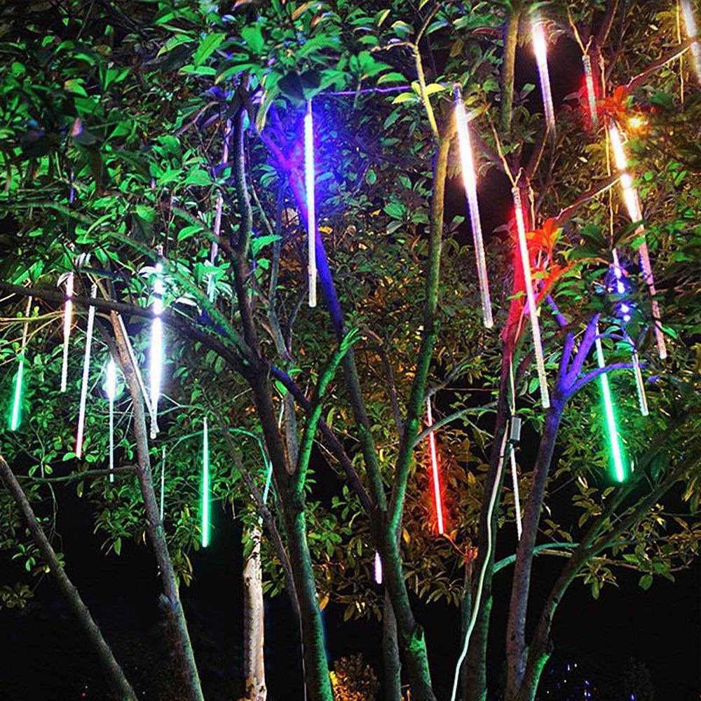 20cm 30cm 50cm Meteor Shower Rain Tubes LED Lights Waterproof New Year Christmas Tree Wedding Outdoor Garden Patio Decoration