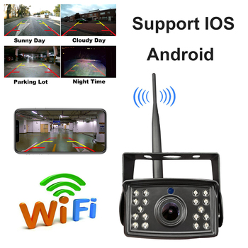 WiFi Backup Camera 1080P Full HD Wireless Rear View Camera Car Parking Assistance Night Vision w/ Record on APP for IOS Android