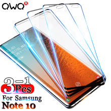 3-1Pcs Curved Protective Glass For Samsung Galaxy Note 10 S9 Plus A50 A20 A10 Screen