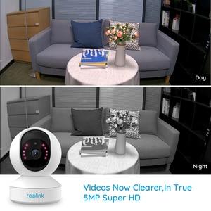 Image 2 - Reolink 5MP תינוק צג 3x זום אופטי מצלמה 2.4G 5G WiFi מצלמה פאן & להטות מיני מקורה בית מעקב IP מצלמה E1 זום