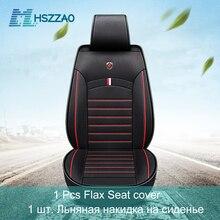 Ultra luksusowe fotelik samochodowy pojedyncze siedzenie bez oparcia oddychająca len pokrycie siedzenia samochodu dla większości czterodrzwiowych Sedan i SUV