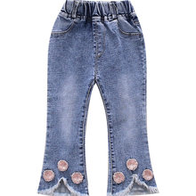 Baby Girls Jeans Pants Fashion Style Kids Flared Trousers Children Toddler Denim Bell Bottom Boot Cut 1-7T