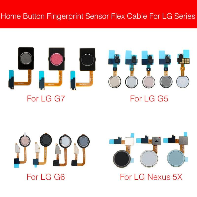 Home Button Fingerprint Sensor Flex Cable For LG G5 G6 G7 ThinQ G710 Nexus 5X Finger Reader Touch Sensor Flex Ribbon Spare Parts