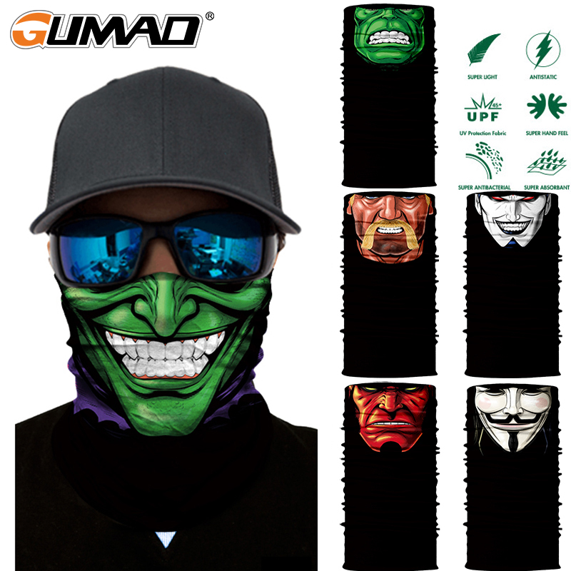 3D Seamless Magic Neck Gaiter Face Shield Tube Warmer Outdoor Cycling Camping Ski Fishing Bandana Headband Scarf Men Women Mask