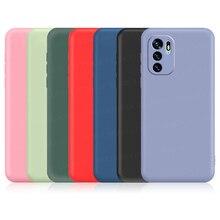 עבור Redmi הערה 10 5G מקרה עבור Xiaomi Redmi הערה 10 פרו מקסימום 10S מקורי נוזל סיליקון עמיד הלם פגוש רך TPU טלפון כיסוי