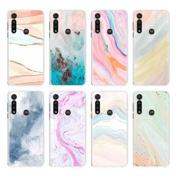 Marble Pattern Silicone Case For Motorola G8 G9 Play G Stylus G8 Power Lite E6s One Hyper Edge Plus One Fusion + Cover Shell for motorola one fusion plus case shockproof armor rubber hard pc case for moto one fusion plus cover for moto one fusion plus