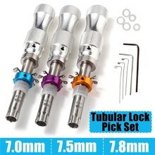 Lock-Tools Tubular .5mm/7.8mm for 3pcs 7-Pins Adjustable Stainless-Steel Scalloped-Pin
