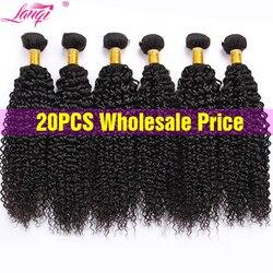 Оптовая продажа, афро кудрявые человеческие волосы, пряди, предложения, 6 шт./лот, не Реми, наращивание волос, перуанские бразильские волосы, ...