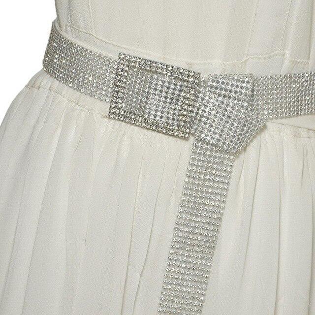 120CM Brilliant Women's Belt Waist Chain Full Rhinestone Crystal Belt Luxury Large Party Waist Belt for 2020 Fashion 5