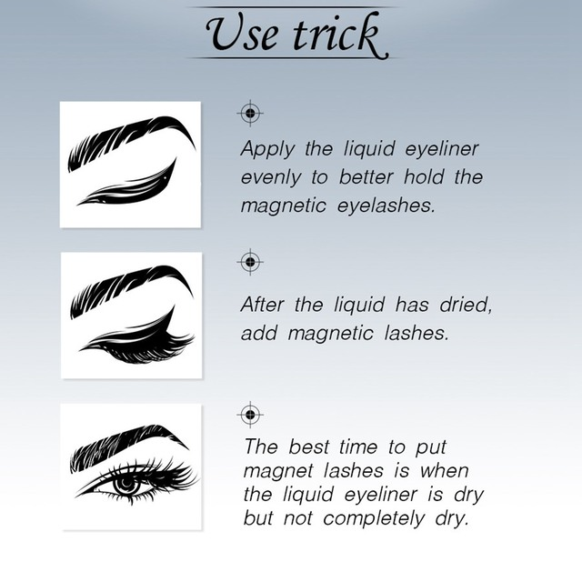 Magnetic Eyeliner & Magnetic Eyelashes Makeup Set Waterproof Liquid Eyeliner with Reusable False magnetic Lash for dropshipping 4