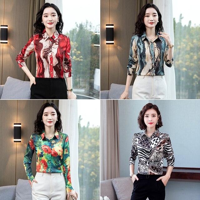 TingYiLi Vintage Printed Blouse Shirt Women Long Sleeve Boho Shirt Spring Autumn Korean Elegant Plus Size Top Female 6