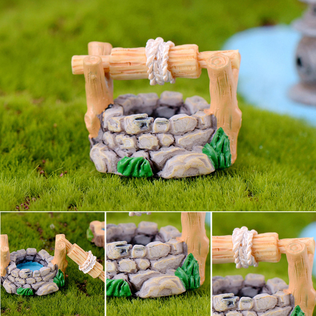 Micro fairy garden figurines kawaii wood board house miniatures/terrarium doll house decor/succulents DIY ornaments accessories 4