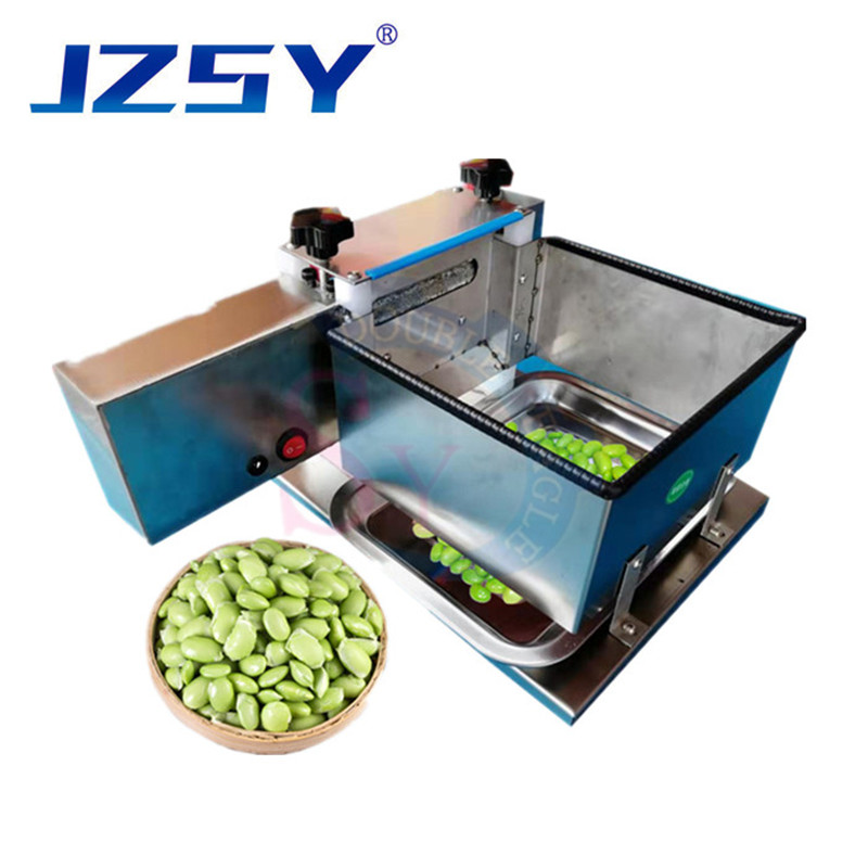 2020 upgraded Wholesale price edamame peeling machine/small household electric green bean peeler/manual fresh pea sheller image