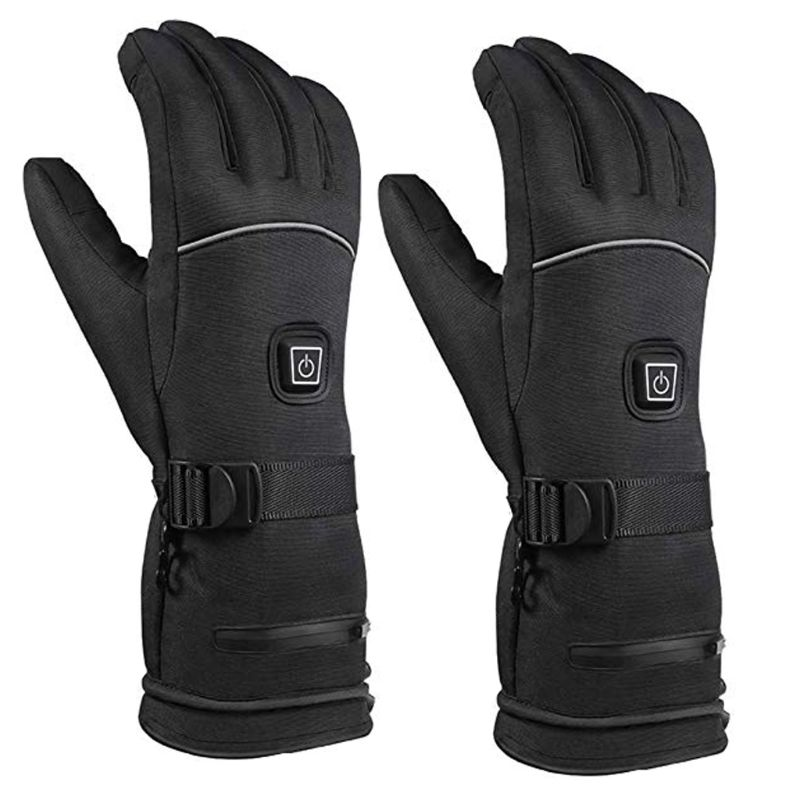 Men Women Winter Electric Heated Gloves With Reflective Strip Battery Powered LX9E