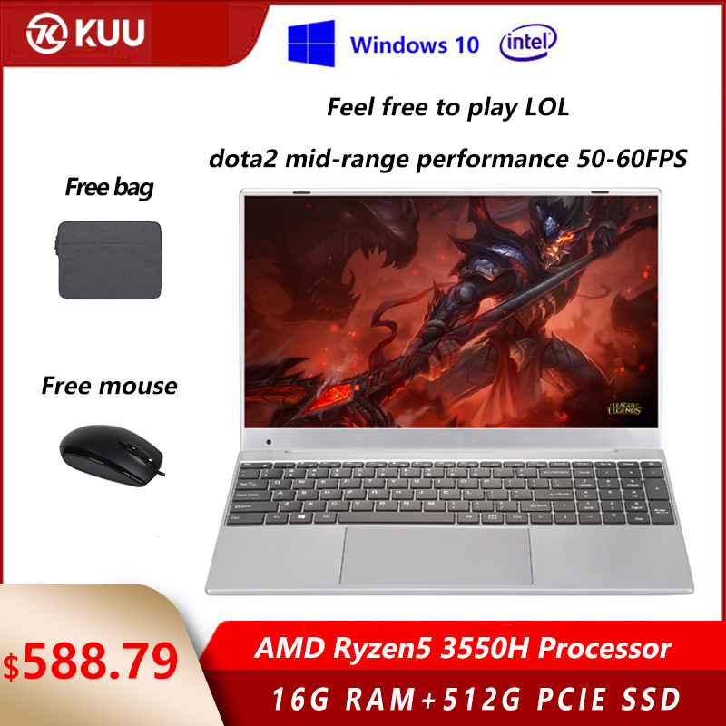 15 6 inch  AMD Ryzen5 3550H Processor IPS Screen 16GB RAM DDR4 256G 512G PCIe SSD Windows 10 Vega 8  Gaming Laptop for LOL Dota