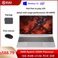 15.6 inch AMD Ryzen5 3550H Processor IPS Screen 16GB RAM DDR4 256G 512G PCIe SSD Windows 10 Vega 8 Gaming Laptop for LOL Dota
